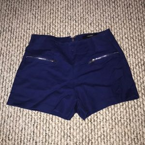 Forever 21 royal blue shorts